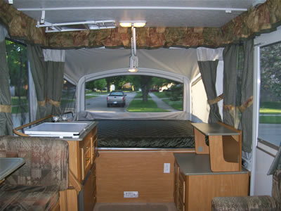 Large Coleman Popup With Air And Slideout Camper